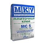 Плиточный клей Плиточный клей стандарт МС5 МКУ 25 кг 103004