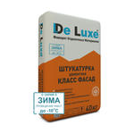 Цементные Штукатурка цементная De Luxe КЛАСС ФАСАД серия ЗИМА 40 кг 105013