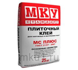 Плиточный клей Плиточный клей стандарт Плюс МКУ 25 кг 103005