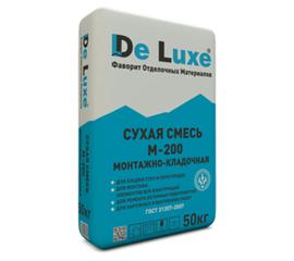 Универсальные Сухая смесь монтажно-кладочная De Luxe М-200 50 кг 102005
