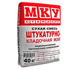 Универсальные Сухая смесь штукатурно-кладочная МКУ М-200 40 кг 102014