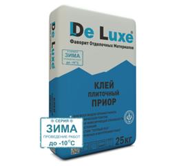 Клей для керамогранита Плиточный клей De Luxe ПРИОР серия ЗИМА 25 кг 103010