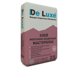 Для блоков Монтажно-кладочный клей De Luxe МАСТЕРБЛОК 25 кг 107006