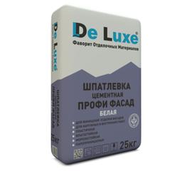 Цементные Шпатлевка цементная De Luxe ПРОФИ ФАСАД БЕЛАЯ 25 кг 106007