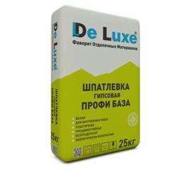 Гипсовые Шпатлевка гипсовая De Luxe ПРОФИ БАЗА 25 кг 106004