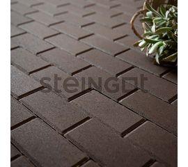 Брусчатка Тротуарная плитка Брусчатка 200*100*40 Темно-коричневая (полный прокрас) 110046