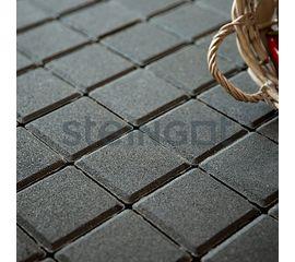 Брусчатка Тротуарная плитка Квадрат 100*100*60 Черный (верхний прокрас) 110051