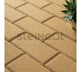 Брусчатка Тротуарная плитка Брусчатка 200*100*40 Желтая (полный прокрас) 110044