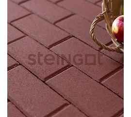 Брусчатка Тротуарная плитка Брусчатка 200*100*60 Темно-красная (верхний прокрас) 110005