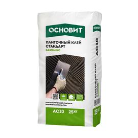 Плиточный клей Плиточный клей ОСНОВИТ Стандарт БАЗПЛИКС AC10 25 кг 103013