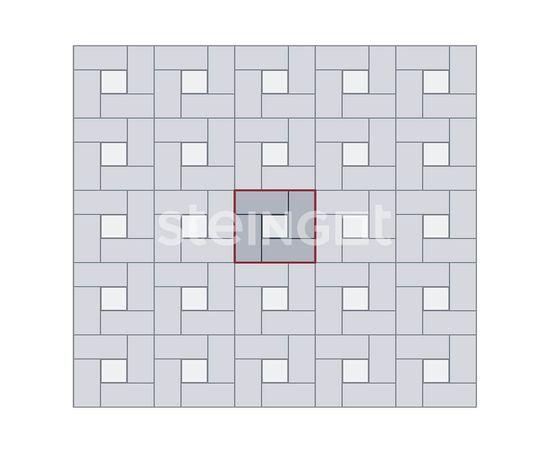 Брусчатка Тротуарная плитка Брусчатка 200*100*40 Серая (полный прокрас) 110048