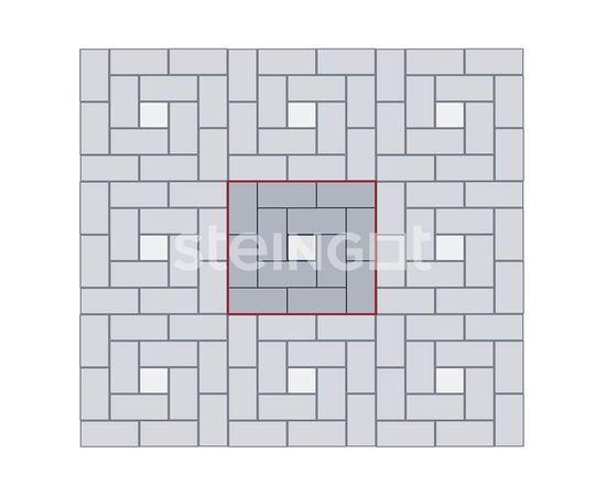 Брусчатка Тротуарная плитка Брусчатка 200*100*80 Серая (полный прокрас) 110050