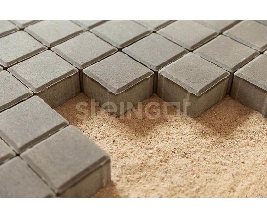 Брусчатка Тротуарная плитка Квадрат 100*100*60 Серый (полный прокрас) 110053