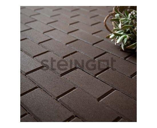 Брусчатка Тротуарная плитка Брусчатка 200*100*60 Темно-коричневая (верхний прокрас) 110008