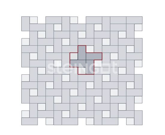 Брусчатка Тротуарная плитка Квадрат 100*100*60 Белый (верхний прокрас) 110054