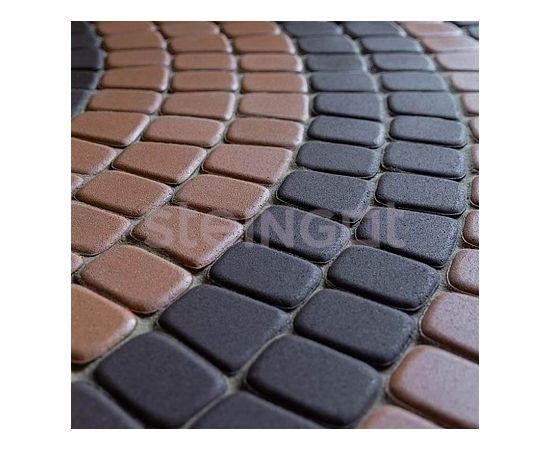Брусчатка Тротуарная плитка Классика круговая Темно-коричневая 110023