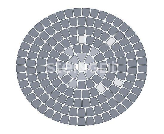Брусчатка Тротуарная плитка Классика круговая Коричневая 110020