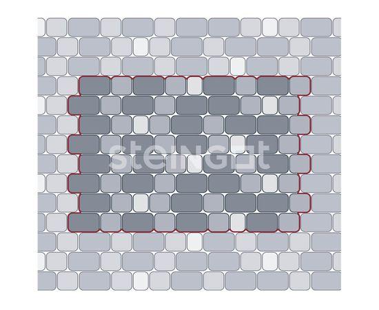 Брусчатка Тротуарная плитка Классика Темно-коричневая 110015