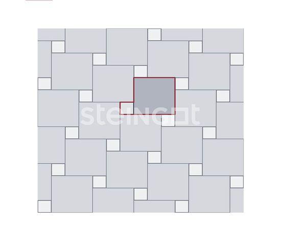 Брусчатка Тротуарная плитка Квадрат 100*100*60 Темно-коричневый (верхний прокрас) 110052