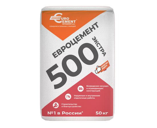 М500 Цемент Евроцемент М500 Д20 ЦЕМ II/А-Ш 42,5Н 50 кг 101004